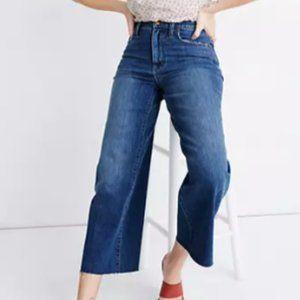 Madewell Wide-Leg Crop Raw Hem Denim Jeans
